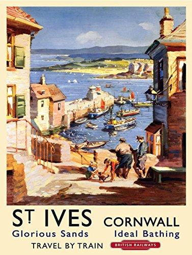 SHAWPRINT ST IVES Cornwall Vintage Stil Metall Dose K?hlschrank Magnet, 100?mm x 75?mm, Neuheit Geschenk