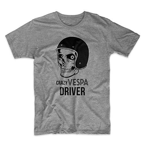 crazy-vespa-driver-moped-motorradfahrer-herren-t-shirt-grau-medium