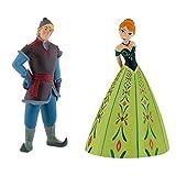 Bullyland Disney Frozen Figures-Coronata Principessa Anna e Kristoff-Ideale per Decorazione Torte