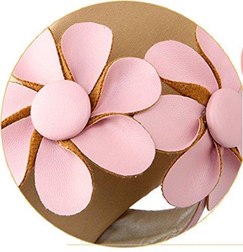 Aisun Damen Mädchen Blumen Sandalen Sommer Strand Schuhe Pink