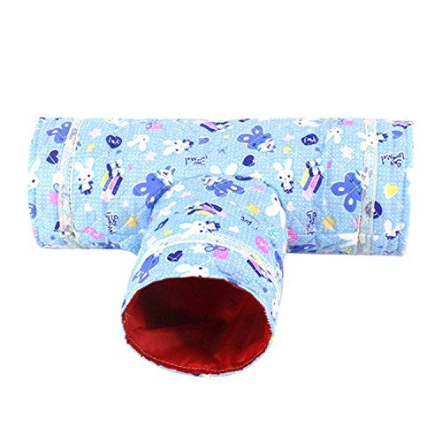 Hamster Totoro 3 Wege Tunnel Tube Spielzeug Spaß Run Spiel Tunnel für syrischen Hamster Gerbil Ratte Maus Meerschweinchen Chinchilla Kleintier