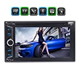 EinCar 6.2inch Double 2 Lärm-Auto-Stereo-HD 1080P Capactive Touch Screen Bluetooth Autoradio DVD / CD / USB / AUX-IN / TF FM AM RDS Multimedia Radio Entertainment System + Fernbedienung
