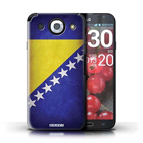 Kobalt® Imprimé Etui / Coque pour LG Optimus G Pro / Pays-Bas conception / Série Drapeau Bosnie-Herzégovine