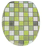 Soft Close Toilet Seat | Stable Hinges | Easy to mount | Mosaic Green