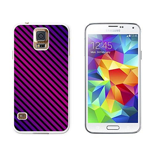 Urban Streifen lila schwarz Snap-On Hartschalen-Schutzhülle für Samsung Galaxy S5, Weiß