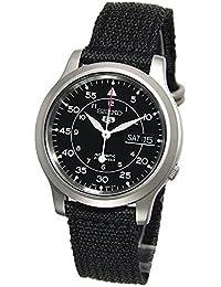 Seiko - SNK809K2-5 - Montre Homme - Automatique Analogique - Cadran Noir - Bracelet Tissu Noir