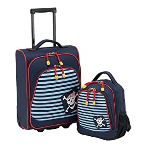 travelite valise roulettes pour enfant youngster motifs pirate bagages. Black Bedroom Furniture Sets. Home Design Ideas