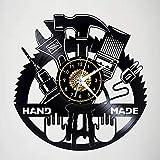 TIANZly Orologio da Parete in Vinile Orologio da Parete Vintage Orologio da Parete Vintage Tic-Tac Orologio da Parete da Cucina Orologio da Parete Vintage Nero Regalo da 12 Pollici