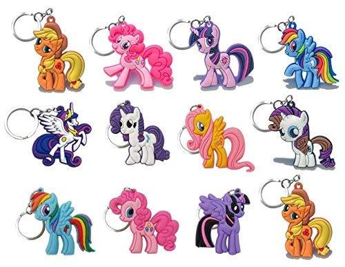 My Little Pony Schlüsselanhänger für Jungen und Mädchen, PVC, 12 Stück