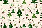 Hemmers Baumwolle Weihnachten Tannenbaum Creme/grün -