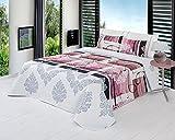 ForenTex - Colcha Boutí, (LQ-Naomi2), Reversible, color Rosa, cama 135 cm, 235 x 260 cm, +2 fundas cojín 40 x 60 cm, Termo Estampada, 220 gr/m2 (relleno ligero 80gr/m2), barata, excepcional relación calidad precio. Por cada 2 colchas o mantas paga solo un envío (o colcha y manta), descuento equivalente antes de finalizar la compra.