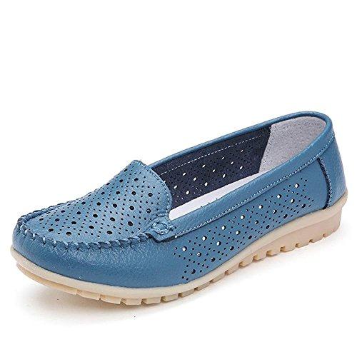 Minetom Donne Ragazze Moda Cavo Scarpe Mocassino Pantofole Estate Barca Scarpe Stile Casual Blu