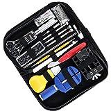 Uokoki 147PCS Uhr-Reparatur-Kit Professionelle Batteriewechsel Werkzeug Armbanduhr Band Set Multifunktions-Armbanduhr Werkzeuge Reparieren