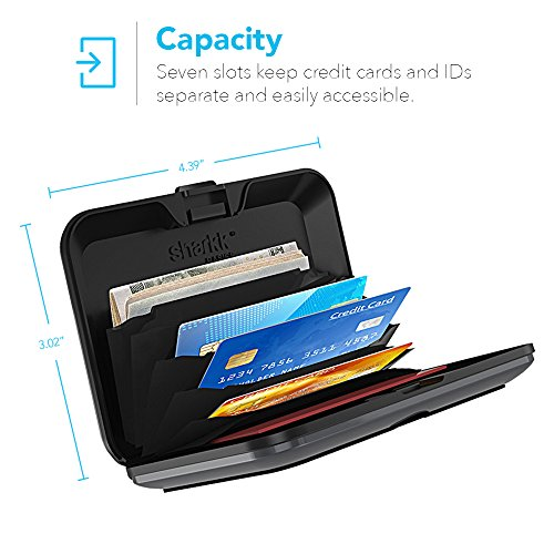 Sharkk Basics Card ID Wallet RFID Aluminum Protected Water Resistant Rugged Wallet