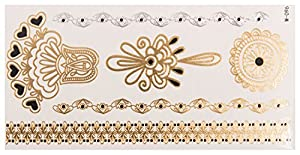 Gold Henna Sheet no. 1 de POSH TATTOO ||| Metallic Tattoo | Flash Tattoos | La nueva moda de Hollywood de SveJona