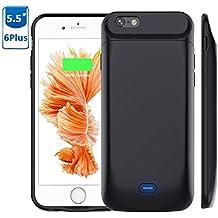 "Vobon Funda Bateria iPhone 6 Plus / 6S Plus, 7200mAh Carcasa Bateria, Externa Recargable Protector Cargador Power Bank Case para Apple iPhone 6 Plus / 6S Plus (5,5"" ) (Negro)"