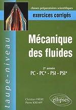 Mécanique des fluides PC-PC*-PSI-PSI* - Exercices corrigés de Christian Frère