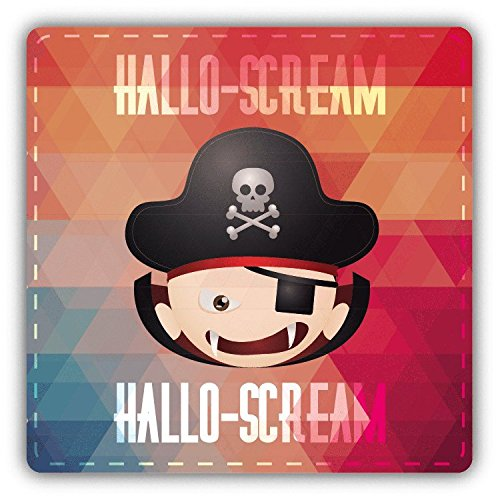 Dracula Smile Hallo Scream Halloween Slogan Hochwertigen Auto-Autoaufkleber 12 x 12 ()