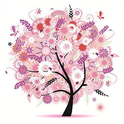 ZHHGOOD Four Seasons Tree A DIY Children Adult Beginner 5D Decorative Diamond Painting Without Box A Cross Stitch