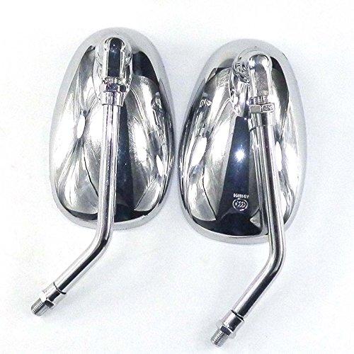 YunShuo Rückspiegel Verchromt für Roller 50ccm und 125ccm Motroroller Retro Znen 10mm