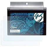 Bruni Schutzfolie für Lenovo Yoga Tablet 2-8 Folie - 2 x glasklare Displayschutzfolie