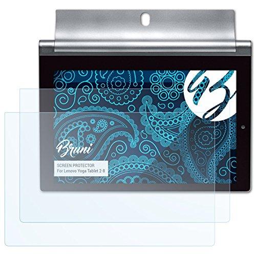 Bruni Pellicola Protettiva per Lenovo Yoga Tablet 2-8 Pellicola Proteggi - 2 x cristallino Protezione Pellicola dello Schermo