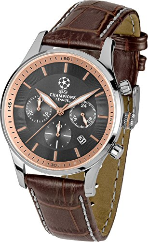 Jacques Lemans Herren Analog Quarz Uhr mit Leder Armband U-58C