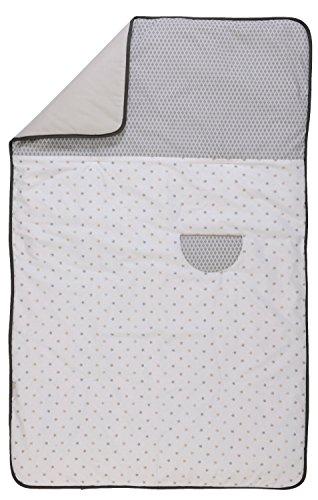 P'tit Basile - Couverture ouatinée pour bébé - 75x120 cm - peut servir de couette - Coton issu de l'agriculture biologique - Collection mixte Little sweet dreams