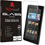TECHGEAR® Amazon Fire 17,8 cm Tablet (2015 Edition/5. Gen.) echtes Sekuritglas Displayschutzfolie Guard Cover