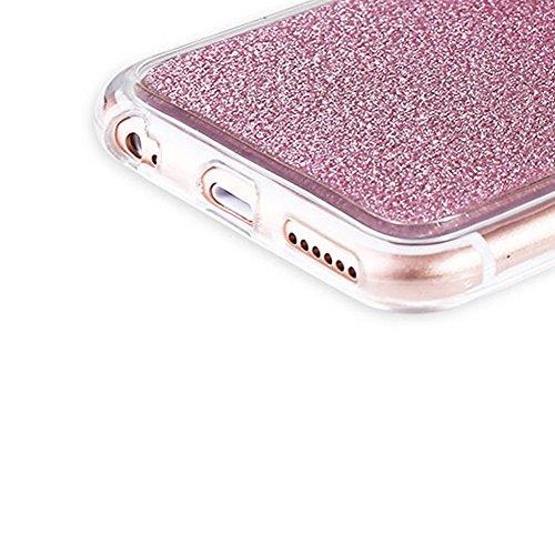 Custodia Per iPhone 6 Plus / 6S Plus,Funyye Glitter Brillare Rosa Graduale Cambiano Colore Stile Cover [Con Pellicola Protettiva] Morbido Sottile Silicone Gomma Gel TPU Protettivo Caso Originale Antis Design #04