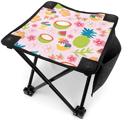 Mu You Ben Klappstuhl Stühle Angeln Sweet Seaside Sommer Coconut Juice Leichte Angeln Hocker Stuhl für Camping Angeln Wandern Reisen