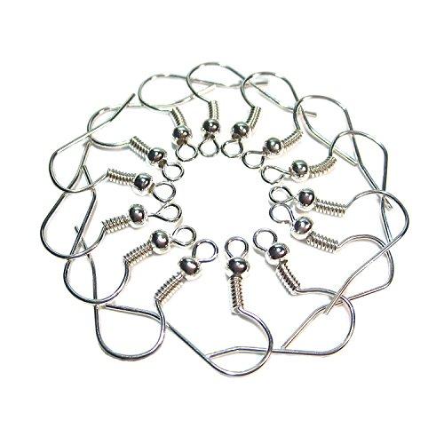 100 Ohrhaken Fischhaken Ohrhänger Ohrfedern Ohrring Haken Silber Geralin Gioielli