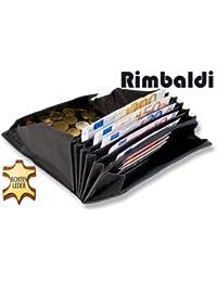 Rimbaldi - Profi-Kellnerbörse mit Lederboden im riesigen Hartgeldfach aus naturbelassenem, robustem Büffelleder in Schwarz