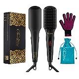 BeautyWill Haarglätter-Bürste mit MCH Technologie, Doppel-Anionen, Anti-Verbrüh-Kammzähne für eine schnelle Haarglättung