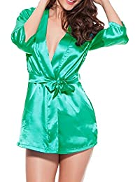 Demarkt Femme Dentelle Lingerie Pyjamas Sexy Nuisette Babydol Peignoir Sexy Robe Pyjama Peignoir
