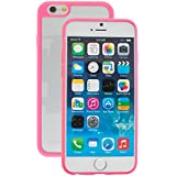 New Apple iphone 7 Case cover, TPU Rubber Ultra Thin Bumper Twin Colour Case Frame Protective Cover For iPhone 7 (Pink)