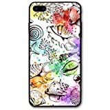 iPhone 8 Plus Case, Starfish Conches Coral Cell Phone Case Slim-Fit Shock Proof Anti-Finger Print Phone Case for Women Men Girls Boys