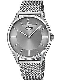 0d0e552095a2 Lotus Reloj Analógico para Hombre de Cuarzo con Correa en Acero Inoxidable  18487 3