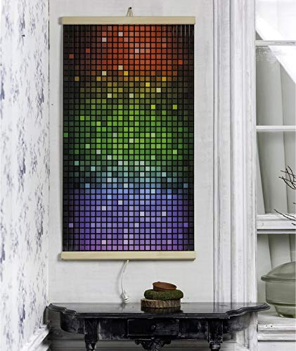 Infrared Heating Panel Mosaic Flexible Wall-Hung Image Electric Film Heater Panel 230V 430W with Picture, Lite and Energy Efficient Mild Heat Without Drying Air and Burning Oxygen (UK Plug)
