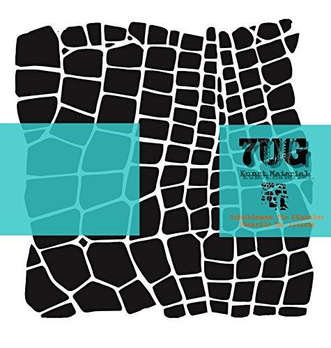 Designer Schablone, Motiv Netz, net, 7UG 001, Texturen für Künstler (Flow-zelle)