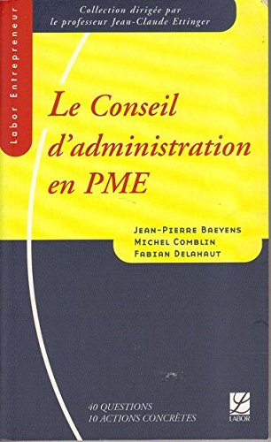 Conseil d Administration en Pme par Collectif