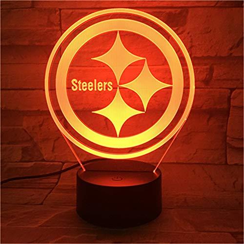 Lixiaoyuzz 3D Nachtlampe Steelers Led Nachtlicht Mit 7 Farben Licht Für Heimtextilien Lampe Erstaunliche Visualisierung Optische Weihnachtsgeschenk Für Papa