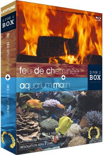 Preisvergleich Produktbild Aquarium marin ; feu de cheminée [Blu-ray] [FR Import]