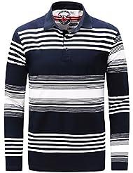 T-shirt à rayures à manches longues pour hommes Coton pur Coton à couper l'automne Maillot à manches longues à manches longues M-3XL