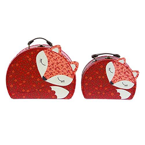 """Zwei kleine Koffer """"Fuchs"""" im Set - ideal zur Aufbewahrung von Bastelutensilien, Krimskrams, etc."""