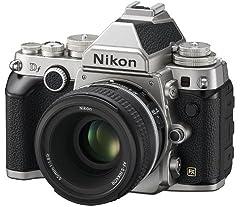Nikon  Df silber Kit + AF-S NIKKOR 50 mm 1:1,8G SE