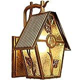 YHUJH Home Wandleuchte Flurleuchten Außentreppen Wandleuchte Terrasse Villa Gartenlicht Außenbeleuchtung Retro Balkon Wasserdichte Wand , Gartenlichter Balkon