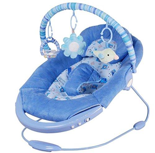 NWYJR Baby Wippe Neugeborenen Vibration bequem Zeit elektrische Multifunktions faltbare Musik automatische Swing Bouncer , blue (Bouncer Faltbar)