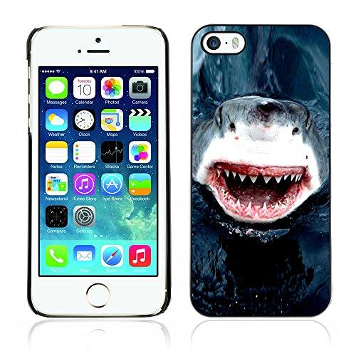 Graphic4You Hai Tier Design Harte Hülle Case Tasche Schutzhülle für Apple iPhone 5 und 5S Design #4