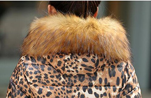 SMITHROAD Damen Winter Mantel Parka Kapuzen jacket Schwarz